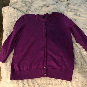 Talbots purple cardigan